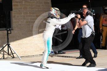 World © Octane Photographic Ltd. Formula 1 - American Grand Prix - Sunday - Race Podium. Lewis Hamilton - Mercedes AMG Petronas F1 W08 EQ Energy+. Circuit of the Americas, Austin, Texas, USA. Sunday 22nd October 2017. Digital Ref: 1995LB1D0331