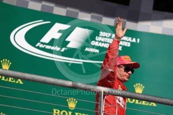 World © Octane Photographic Ltd. Formula 1 - American Grand Prix - Sunday - Race Podium. Kimi Raikkonen - Scuderia Ferrari SF70H. Circuit of the Americas, Austin, Texas, USA. Sunday 22nd October 2017. Digital Ref: 1995LB1D0388