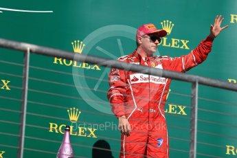 World © Octane Photographic Ltd. Formula 1 - American Grand Prix - Sunday - Race Podium. Kimi Raikkonen - Scuderia Ferrari SF70H. Circuit of the Americas, Austin, Texas, USA. Sunday 22nd October 2017. Digital Ref: 1995LB1D0404