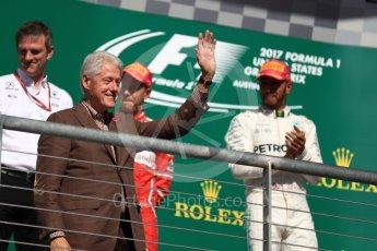 World © Octane Photographic Ltd. Formula 1 - American Grand Prix - Sunday - Race Podium. Bill Clinton. Circuit of the Americas, Austin, Texas, USA. Sunday 22nd October 2017. Digital Ref: 1995LB1D0687