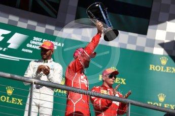 World © Octane Photographic Ltd. Formula 1 - American Grand Prix - Sunday - Race Podium. Sebastian Vettel - Scuderia Ferrari SF70H. Circuit of the Americas, Austin, Texas, USA. Sunday 22nd October 2017. Digital Ref: 1995LB1D0728
