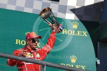 World © Octane Photographic Ltd. Formula 1 - American Grand Prix - Sunday - Race Podium. Kimi Raikkonen - Scuderia Ferrari SF70H. Circuit of the Americas, Austin, Texas, USA. Sunday 22nd October 2017. Digital Ref: 1995LB1D0742