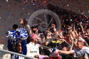 World © Octane Photographic Ltd. Formula 1 - American Grand Prix - Sunday - Race Podium. Lewis Hamilton - Mercedes AMG Petronas F1 W08 EQ Energy+. Circuit of the Americas, Austin, Texas, USA. Sunday 22nd October 2017. Digital Ref: 1995LB1D0835