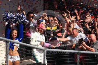 World © Octane Photographic Ltd. Formula 1 - American Grand Prix - Sunday - Race Podium. Lewis Hamilton - Mercedes AMG Petronas F1 W08 EQ Energy+. Circuit of the Americas, Austin, Texas, USA. Sunday 22nd October 2017. Digital Ref: 1995LB1D0840