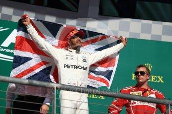 World © Octane Photographic Ltd. Formula 1 - American Grand Prix - Sunday - Race Podium. Lewis Hamilton - Mercedes AMG Petronas F1 W08 EQ Energy+. Circuit of the Americas, Austin, Texas, USA. Sunday 22nd October 2017. Digital Ref: 1995LB1D0992