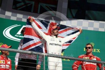 World © Octane Photographic Ltd. Formula 1 - American Grand Prix - Sunday - Race Podium. Lewis Hamilton - Mercedes AMG Petronas F1 W08 EQ Energy+. Circuit of the Americas, Austin, Texas, USA. Sunday 22nd October 2017. Digital Ref: 1995LB1D0999