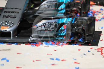 World © Octane Photographic Ltd. Formula 1 - American Grand Prix - Sunday - Race Podium. Spares of Mercedes AMG Petronas F1 W08 EQ Energy+. Circuit of the Americas, Austin, Texas, USA. Sunday 22nd October 2017. Digital Ref: 1995LB1D1301