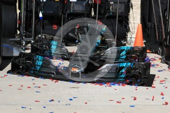 World © Octane Photographic Ltd. Formula 1 - American Grand Prix - Sunday - Race Podium. Spares of Mercedes AMG Petronas F1 W08 EQ Energy+. Circuit of the Americas, Austin, Texas, USA. Sunday 22nd October 2017. Digital Ref: 1995LB1D1309