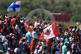 World © Octane Photographic Ltd. Formula 1 - American Grand Prix - Sunday - Race. Fans flags on Turn 1. Circuit of the Americas, Austin, Texas, USA. Sunday 22nd October 2017. Digital Ref: 1994LB1D9542