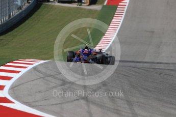 World © Octane Photographic Ltd. Formula 1 - American Grand Prix - Sunday - Race. Daniil Kvyat - Scuderia Toro Rosso STR12. Circuit of the Americas, Austin, Texas, USA. Sunday 22nd October 2017. Digital Ref: 1994LB1D9609