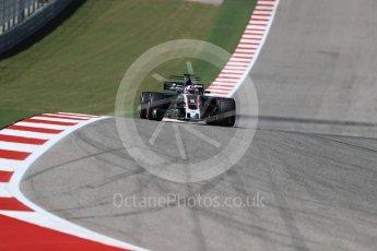World © Octane Photographic Ltd. Formula 1 - American Grand Prix - Sunday - Race. Romain Grosjean - Haas F1 Team VF-17. Circuit of the Americas, Austin, Texas, USA. Sunday 22nd October 2017. Digital Ref: 1994LB1D9722