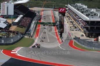 World © Octane Photographic Ltd. Formula 1 - American Grand Prix - Sunday - Race. Esteban Ocon - Sahara Force India VJM10. Circuit of the Americas, Austin, Texas, USA. Sunday 22nd October 2017. Digital Ref: 1994LB2D7325