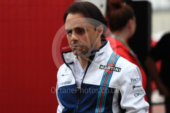 World © Octane Photographic Ltd. Formula 1 - American Grand Prix - Friday - Paddock. Felipe Massa - Williams Martini Racing FW40. Circuit of the Americas, Austin, Texas, USA. Friday 20th October 2017. Digital Ref: 1985LB1D3256