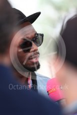 World © Octane Photographic Ltd. Formula 1 - American Grand Prix - Sunday - Paddock. Usain Bolt meets with the media. Circuit of the Americas, Austin, Texas, USA. Sunday 22nd October 2017. Digital Ref: 1992LB1D8232