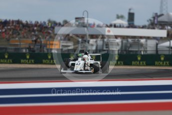World © Octane Photographic Ltd. Formula 4 – F4 United States Championship - American Grand Prix – Race 1. Circuit of the Americas (COTA), Austin, Texas, USA. Saturday 21st October 2017. Raphael Forcier - Indy Motorsports Group and Justin Sirgany - Global Racing Group. Digital Ref:1982LB1D6848
