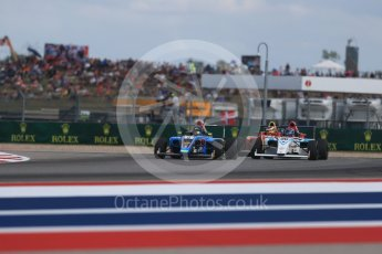World © Octane Photographic Ltd. Formula 4 – F4 United States Championship - American Grand Prix – Race 1. Circuit of the Americas (COTA), Austin, Texas, USA. Saturday 21st October 2017. Parker Locke - Jay Howard's MDD and Lawson Nagel - Miller Vinatieri Leguizamon Motorsports. Digital Ref:1982LB1D7001