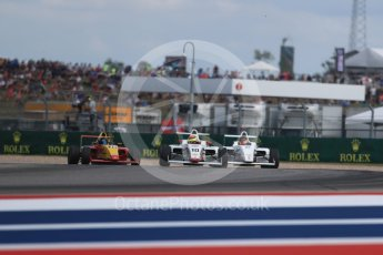 World © Octane Photographic Ltd. Formula 4 – F4 United States Championship - American Grand Prix – Race 1. Circuit of the Americas (COTA), Austin, Texas, USA. Saturday 21st October 2017. Davis Durrett - Indy Motorsports Group, Steve Bamford - Cape Motorsports and Russ McDonough IV - Group A Racing. Digital Ref:1982LB1D7009