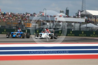 World © Octane Photographic Ltd. Formula 4 – F4 United States Championship - American Grand Prix – Race 1. Circuit of the Americas (COTA), Austin, Texas, USA. Saturday 21st October 2017. John Paul Southern Jr - Jay Howard's MDD and Jack William Miller - Miller Vinatieri Leguizamon Motorsports. Digital Ref:1982LB1D7264