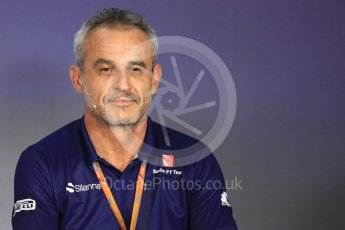 World © Octane Photographic Ltd. Formula 1 - Austria Grand Prix - FIA Team Press Conference, Part 2. Beat Zehnder - Sauber F1 Team Manager. Red Bull Ring, Spielberg, Austria. Friday 7th July 2017. Digital Ref: 1866LB1D1571