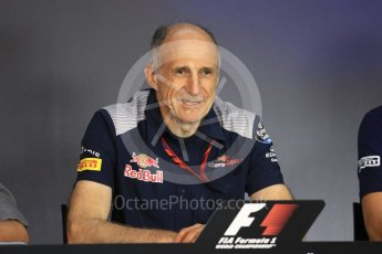 World © Octane Photographic Ltd. Formula 1 - Austria Grand Prix - FIA Team Press Conference, Part 2. Franz Tost – Team Principal of Scuderia Toro Rosso. Red Bull Ring, Spielberg, Austria. Friday 7th July 2017. Digital Ref: 1866LB1D1608