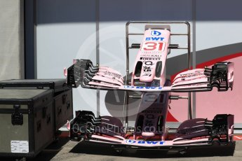World © Octane Photographic Ltd. Formula 1 - Austria Grand Prix - Thursday - Pit Lane. Sahara Force India VJM10. Red Bull Ring, Spielberg, Austria. Thursday 6th July 2017. Digital Ref: 1861LB1D9008