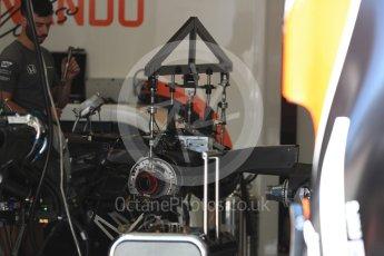 World © Octane Photographic Ltd. Formula 1 - Austria Grand Prix - Thursday - Pit Lane. McLaren Honda MCL32. Red Bull Ring, Spielberg, Austria. Thursday 6th July 2017. Digital Ref: 1861LB1D9030