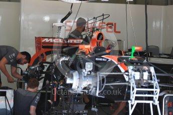 World © Octane Photographic Ltd. Formula 1 - Austria Grand Prix - Thursday - Pit Lane. McLaren Honda MCL32. Red Bull Ring, Spielberg, Austria. Thursday 6th July 2017. Digital Ref: 1861LB1D9052