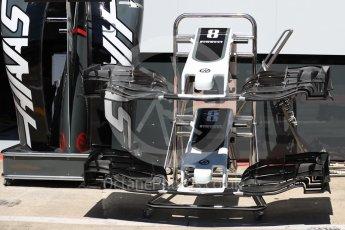 World © Octane Photographic Ltd. Formula 1 - Austria Grand Prix - Thursday - Pit Lane. Haas F1 Team VF-17. Red Bull Ring, Spielberg, Austria. Thursday 6th July 2017. Digital Ref: 1861LB1D9085