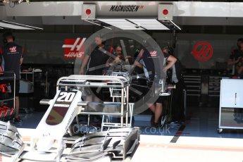 World © Octane Photographic Ltd. Formula 1 - Austria Grand Prix - Thursday - Pit Lane. Haas F1 Team VF-17. Red Bull Ring, Spielberg, Austria. Thursday 6th July 2017. Digital Ref: 1861LB1D9091