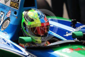 World © Octane Photographic Ltd. Formula 1 - Belgian Grand Prix - Sunday Demo Laps. Mick Schumacher driving his father's (Michael Schumacher) 1st championship winning Benetton Ford B194 on the 25th Anniversary of his 1st win. Circuit de Francorchamps, Belgium. Sunday 27th August 2017. Digital Ref:1932LB1D8092