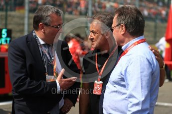 World © Octane Photographic Ltd. Formula 1 - Belgian Grand Prix - Grid. Jean Alesi and Pierre Yves Jeholet - Minister for the Economy. Circuit de Spa Francorchamps, Belgium. Sunday 27th August 2017. Digital Ref:1932LB1D8326