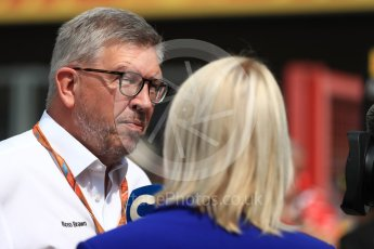 World © Octane Photographic Ltd. Formula 1 - Belgian Grand Prix- Grid. Ross Brawn – Managing Director of Formula 1 for Liberty Media. Circuit de Spa Francorchamps, Belgium. Sunday 27th August 2017. Digital Ref:1932LB1D8354