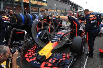 World © Octane Photographic Ltd. Formula 1 - Belgian Grand Prix - Grid. Max Verstappen - Red Bull Racing RB13. Circuit de Spa Francorchamps, Belgium. Sunday 27th August 2017. Digital Ref:1932LB2D7218