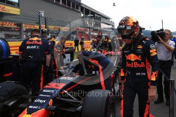 World © Octane Photographic Ltd. Formula 1 - Belgian Grand Prix - Grid. Max Verstappen - Red Bull Racing RB13. Circuit de Spa Francorchamps, Belgium. Sunday 27th August 2017. Digital Ref:1932LB2D7229