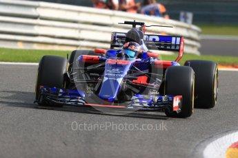 World © Octane Photographic Ltd. Formula 1 - Belgian Grand Prix - Friday - Practice 1. Daniil Kvyat - Scuderia Toro Rosso STR12. Circuit de Spa Francorchamps, Belgium. Friday 25th August 2017. Digital Ref:1922LB1D4782