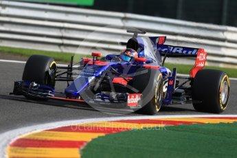 World © Octane Photographic Ltd. Formula 1 - Belgian Grand Prix - Friday - Practice 1. Daniil Kvyat - Scuderia Toro Rosso STR12. Circuit de Spa Francorchamps, Belgium. Friday 25th August 2017. Digital Ref:1922LB1D5027