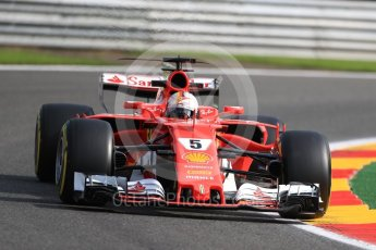 World © Octane Photographic Ltd. Formula 1 - Belgian Grand Prix - Friday - Practice 1. Sebastian Vettel - Scuderia Ferrari SF70H. Circuit de Spa Francorchamps, Belgium. Friday 25th August 2017. Digital Ref:1922LB1D5069