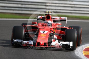 World © Octane Photographic Ltd. Formula 1 - Belgian Grand Prix - Friday - Practice 1. Kimi Raikkonen - Scuderia Ferrari SF70H. Circuit de Spa Francorchamps, Belgium. Friday 25th August 2017. Digital Ref:1922LB1D5126