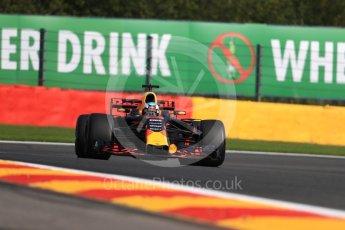 World © Octane Photographic Ltd. Formula 1 - Belgian Grand Prix - Friday - Practice 1. Daniel Ricciardo - Red Bull Racing RB13. Circuit de Spa Francorchamps, Belgium. Friday 25th August 2017. Digital Ref:1922LB1D5201