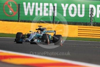 World © Octane Photographic Ltd. Formula 1 - Belgian Grand Prix - Friday - Practice 1. Lewis Hamilton - Mercedes AMG Petronas F1 W08 EQ Energy+. Circuit de Spa Francorchamps, Belgium. Friday 25th August 2017. Digital Ref:1922LB1D5210