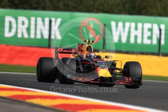 World © Octane Photographic Ltd. Formula 1 - Belgian Grand Prix - Friday - Practice 1. Max Verstappen - Red Bull Racing RB13. Circuit de Spa Francorchamps, Belgium. Friday 25th August 2017. Digital Ref:1922LB1D5227