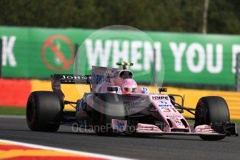 World © Octane Photographic Ltd. Formula 1 - Belgian Grand Prix - Friday - Practice 1. Esteban Ocon - Sahara Force India VJM10. Circuit de Spa Francorchamps, Belgium. Friday 25th August 2017. Digital Ref:1922LB1D5265