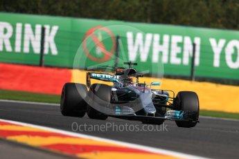 World © Octane Photographic Ltd. Formula 1 - Belgian Grand Prix - Friday - Practice 1. Lewis Hamilton - Mercedes AMG Petronas F1 W08 EQ Energy+. Circuit de Spa Francorchamps, Belgium. Friday 25th August 2017. Digital Ref:1922LB1D5270