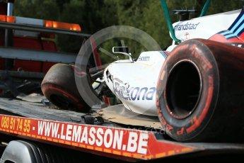 World © Octane Photographic Ltd. Formula 1 - Belgian Grand Prix - Friday - Practice 1. Felipe Massa - Williams Martini Racing FW40. Circuit de Spa Francorchamps, Belgium. Friday 25th August 2017. Digital Ref:1922LB2D5656