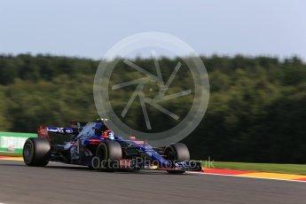 World © Octane Photographic Ltd. Formula 1 - Belgian Grand Prix - Friday - Practice 1. Carlos Sainz - Scuderia Toro Rosso STR12. Circuit de Spa Francorchamps, Belgium. Friday 25th August 2017. Digital Ref:1922LB2D5756