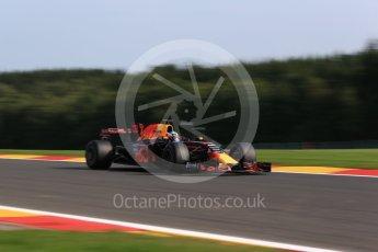 World © Octane Photographic Ltd. Formula 1 - Belgian Grand Prix - Friday - Practice 1. Daniel Ricciardo - Red Bull Racing RB13. Circuit de Spa Francorchamps, Belgium. Friday 25th August 2017. Digital Ref:1922LB2D5849