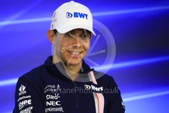 World © Octane Photographic Ltd. Formula 1 - Belgian Grand Prix – Thursday Driver Press Conference – Part 1. Esteban Ocon - Sahara Force India. Circuit de Francorchamps, Belgium. Thursday 24th August 2017. Digital Ref: 1919LB1D4245