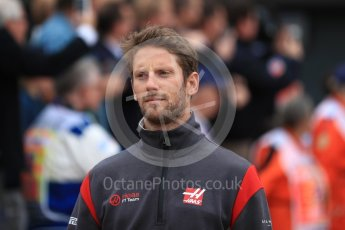 World © Octane Photographic Ltd. Formula 1 - British Grand Prix - Sunday - Drivers Parade. Romain Grosjean - Haas F1 Team VF-17. Silverstone, UK. Sunday 16th July 2017. Digital Ref: 1891LB1D3450