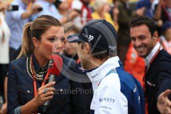 World © Octane Photographic Ltd. Formula 1 - British Grand Prix - Sunday - Drivers Parade. Felipe Massa - Williams Martini Racing FW40. Silverstone, UK. Sunday 16th July 2017. Digital Ref: 1891LB1D3492
