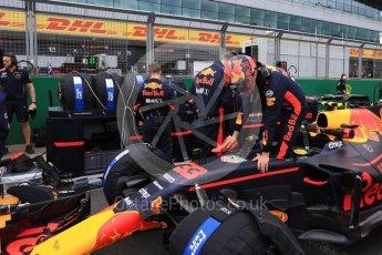 World © Octane Photographic Ltd. Formula 1 - British Grand Prix - Sunday - Grid. Max Verstappen - Red Bull Racing RB13. Silverstone, UK. Sunday 16th July 2017. Digital Ref: 1891LB2D9851